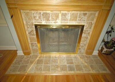 Tile Fireplace